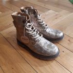BISGAARD 51905 Chaussure montante métallisé doré