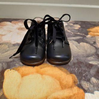 BEBERLIS CHAUSSURE premier pas cuir bleu/noir 21050