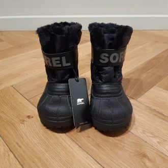 SOREL TODDLER SNOW COMMANDER NOIR botte de neige
