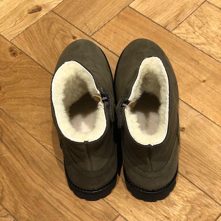 POM D'API ROADSTER ZIP FUR OLIVE boots fourrées mixtes