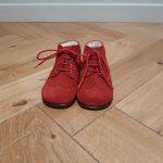 BEBERLIS CHAUSSURE premier pas cuir nubuck rouge