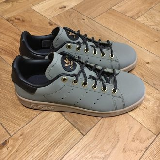ADIDAS STAN SMITH JUNIOR kaki œillet doré basket