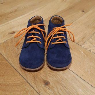 POM D'API Derby Nubuck bleu foncé chaussure bébé