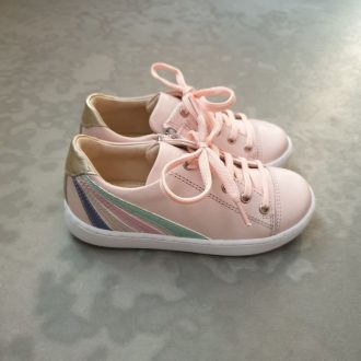 SHOOPOM play lo stripes pink multi pastel chaussure basse fille