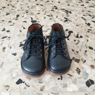 POM D'API Newflex Basic cuir navy chaussure premiers pas bébé