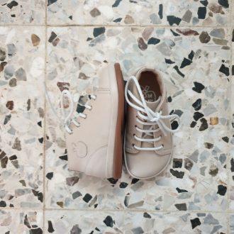 POM D'API Newflex Basic cuir craie chaussure premiers pas bébé