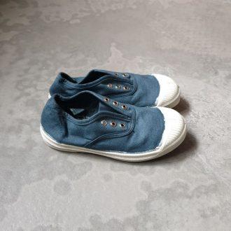 BENSIMON modéle ELLY tennis toile bleu orage