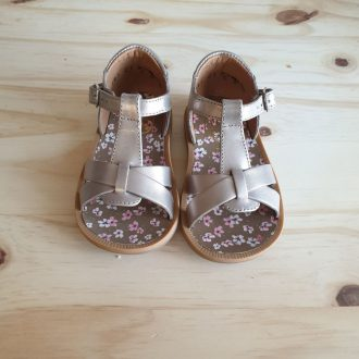 POM D'API POPPY XEXE platine sandale fille premiers pas
