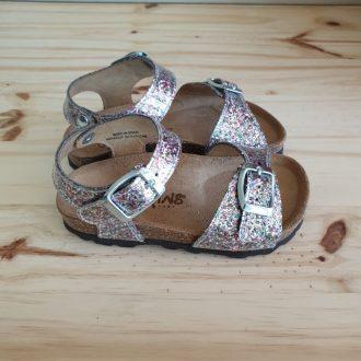 REQINS SANDALES filles oasis glitter vernis multicolore