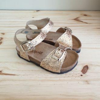 REQINS SANDALES filles oasis glitter vernis platine