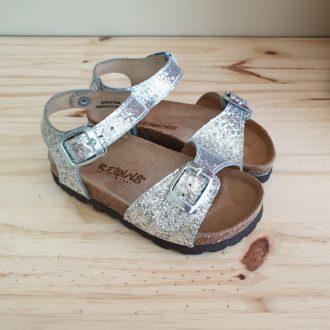 REQINS SANDALES filles oasis glitter vernis argent