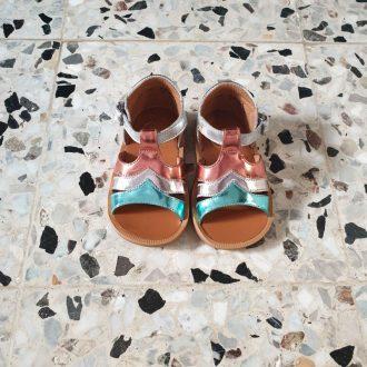POM D'API POPPY calypso métallisé sandale fille premiers pas