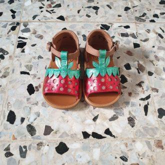POM D'API POPPY berry multi fraise sandale fille premiers pas