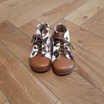 POM D'API Primo DARK CAMEL WHITE chaussure premier pas bébé
