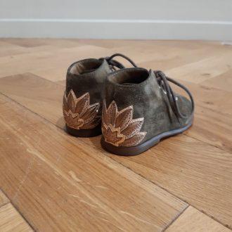POM D'API lotus olive chaussure premier pas bébé
