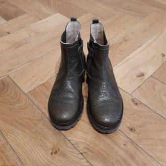 BEBERLIS BOOTS kaki cuir fantaisie