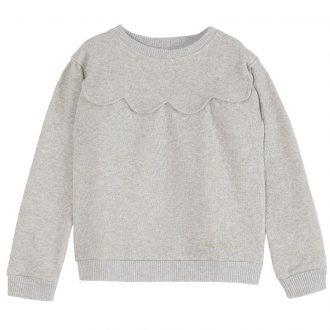 sweatshirt EMILE ET IDA gris chiné pailleté