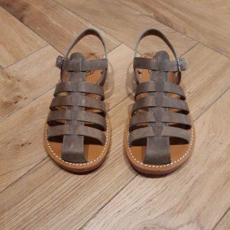 POM D'API nu-pieds PLAGE stitch papy taupe kaki
