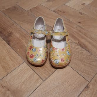 BEBERLIS CHAUSSURE babys 21987 fleuri jaune