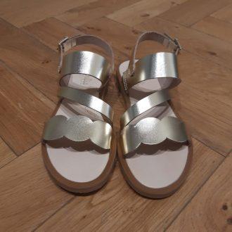 BEBERLIS sandale fille 21919 cuir or