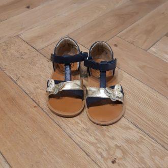 POM D'API POPPY cross marine doré sandale fille premiers pas