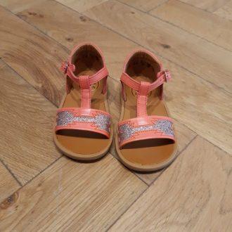 POM D'API POPPY zia corail sandale fille premiers pas