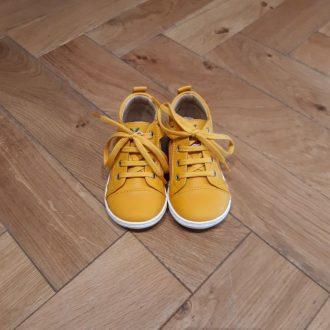 SHOOPOM BOUBA ZIP LACE jaune chaussure premiers pas