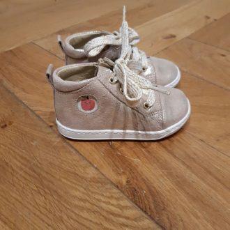 SHOOPOM chaussure premiers pas BOUBA ZIP LACE platine