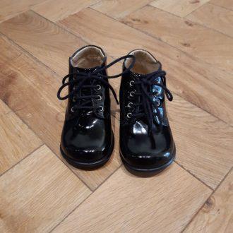 POM D'API nioupi derby Vernis noir chaussure bébé