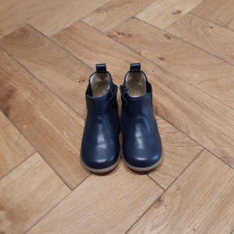 POM D'API stand up boots premiers pas cuir de pomme navy